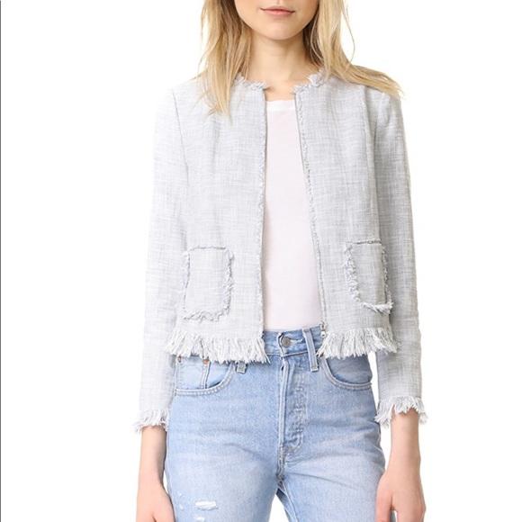 Rebecca Taylor Slub Suiting Fringe Jacket 10